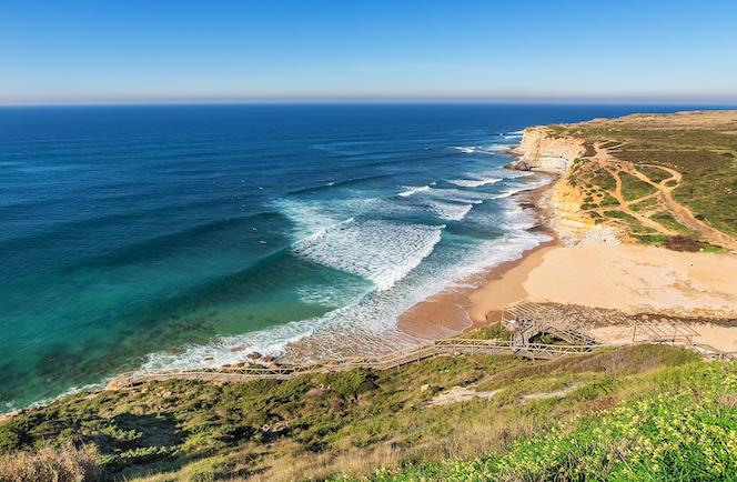 Stranden in de omgeving van Lissabon - Praia Ribeira d'Ilhas