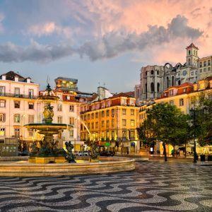 Lissabon Rossio Plein