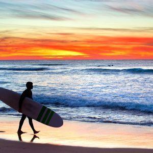 Sagres Surfer zonondergang