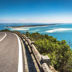 Weg naar Setubal Portugal