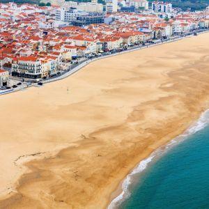 Nazaré strand Portugal