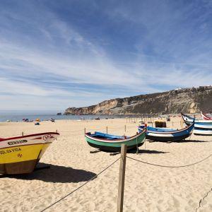 Nazaré Midden Portugal vissersboten